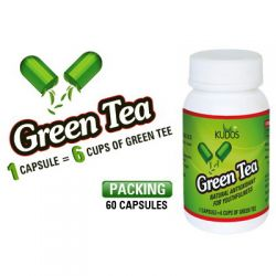 Зеленый чай экстракт Кудос (Green Tea Capsules Kudos) 60 капсул / 500 мг 1