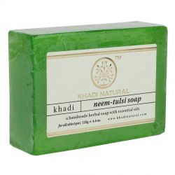 Мыло «Ним и Тулси» Кхади Нейчерал (Neem & Tulsi Soap Khadi Natural) 125 г