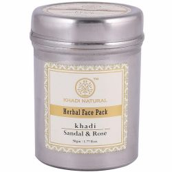 Маска для лица «Сандал и Роза» Кхади Нейчерал (Sandal & Rose Face Pack Khadi Natural) 50 г